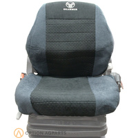 A&I Products 2Pc GRAMMER SEAT COVER Gray/BLACK