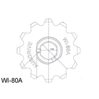 Ausdrive A557 New Holland 12T Cr960/Cr970/Tr85/86/87/88/89/95/96/97 Feeder Sprocket Inner